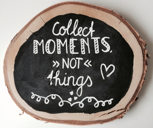 chalkboard, moments, and quote image