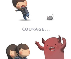 love, courage, and couple image