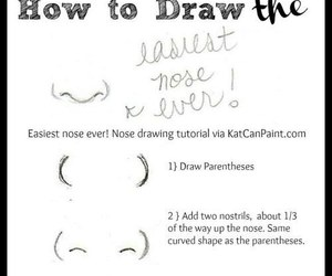nose, draw, and drawing image