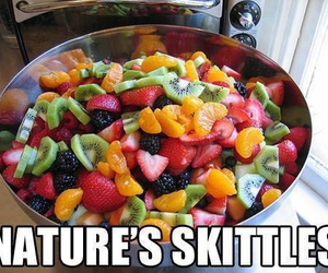 fruit, skittles, and healthy image