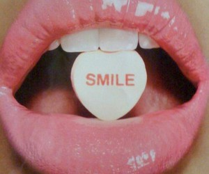 smile, lips, and pink image
