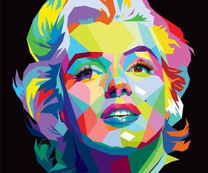 color, Marilyn Monroe, and colour image