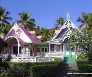 Caribbean, gingerbread house, and house image