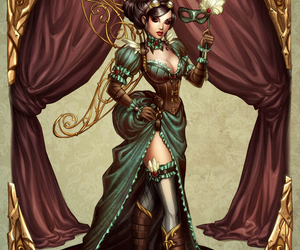 steampunk, comic, and lady image