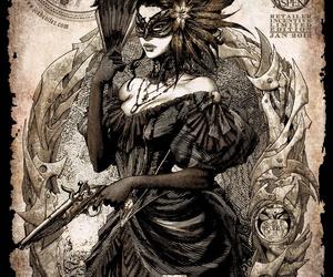 art, girl, and masquerade image