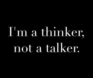 thinker, talker, and quotes image