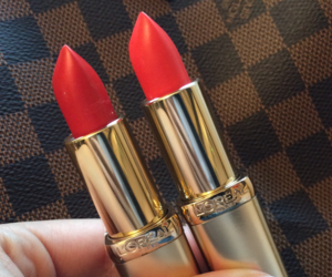 make up, lipstick, and red image
