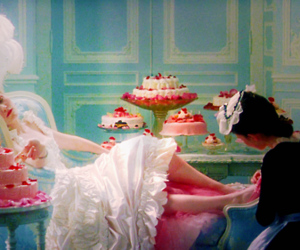 blue, cakes, and marie antoinette image
