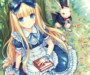 anime, alice, and alice in wonderland image
