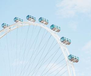 blue, ferris wheel, and aesthetic image