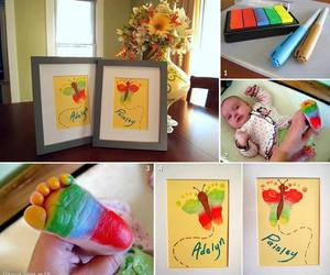 baby, diy, and butterfly image