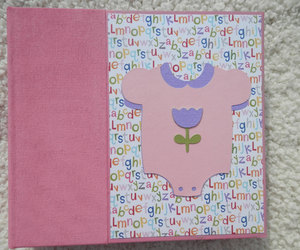 baby, baby girl, and scrap book image