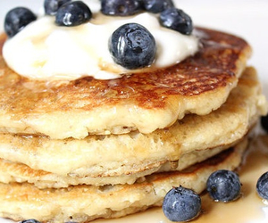 blueberry, breakfast, and pancakes image