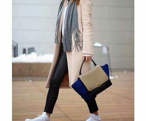 fashion, bag, and coat image