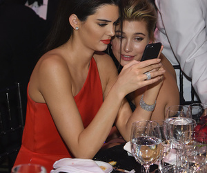 fashion, phone, and red dress image