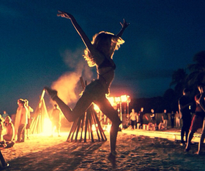 candice swanepoel and fire image
