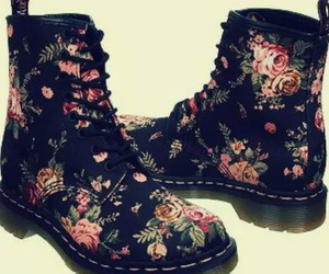 cool, flowers, and shoes image