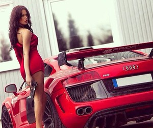 red and car image