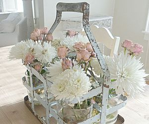 flowers, pink, and decoration image