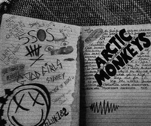 bands, black, and doodles image