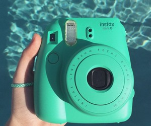camera, instax, and green image