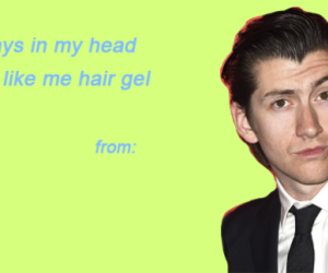 alex turner, valentines day card, and arctic monkeys image