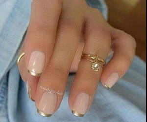 french, nail, and gold. image