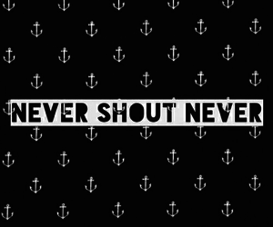 anchor, never shout never, and black image