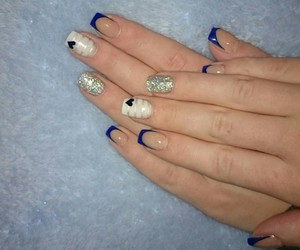 blue, french, and glitter image