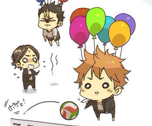 haikyuu, anime, and balloons image