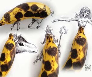 banana, drawing, and art image