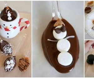 chocolate, food, and snowman image