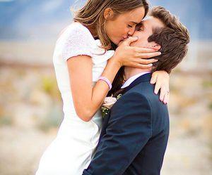 kiss, love, and couple image