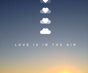 love, air, and clouds image