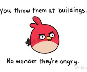 angry birds, funny, and angry image