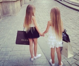 girl, gucci, and shopping image