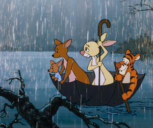 disney, rain, and umbrella image