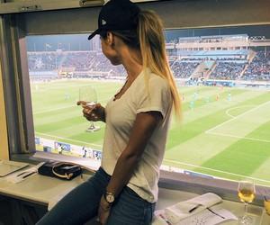girl and football image