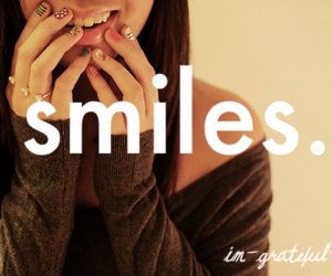 girl, smiling, and grateful image