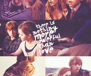 harry potter, love, and romione image