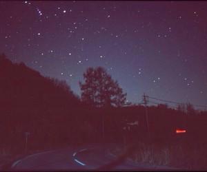 stars, night, and vintage image
