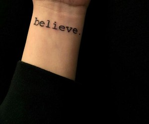 believe, grunge, and tattoo image