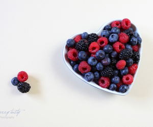 berries, raspberry, and blueberry image