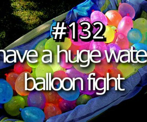 balloon, fight, and water image