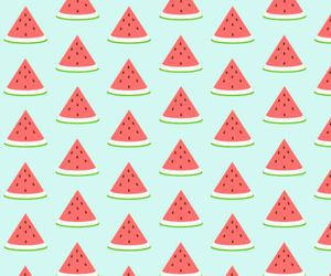 background, pattern, and watermelon image