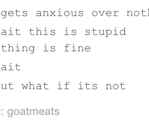 anxiety, funny, and me image