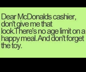 funny, McDonalds, and happymeal image