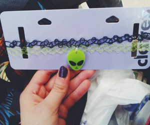 alien, black, and choker image