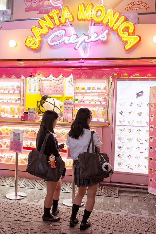 japan, crepes, and pink image