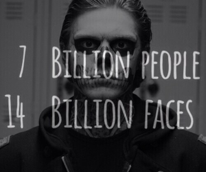 people, american horror story, and black and white image